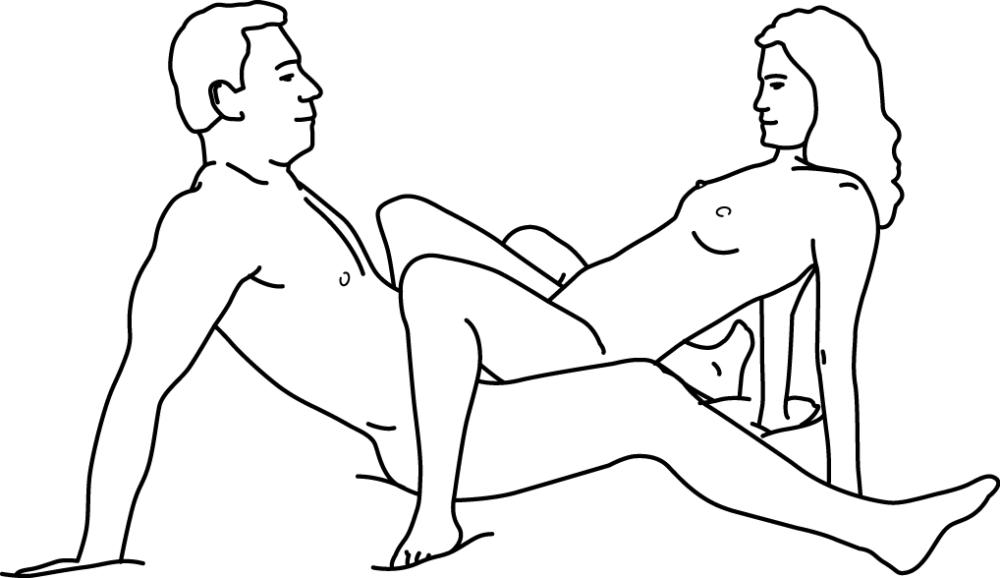 Illustratie van seksstandje zittend